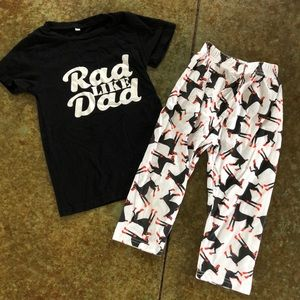 Other - Rad like dad, Father's Day outfit, 3T/4T